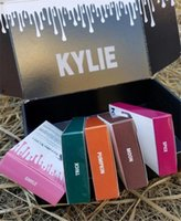 Wholesale Box Tricks - 28 Colors Kylie SMILE MOON TRICK PUMPKIN New Color Lip Gloss Kit in Box Kylie Jenner Lipstick Lip Pencil Kylie Set