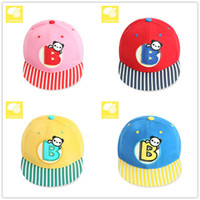 2016 Nouvelle-coréen Fasion bébé Enfants Summer UV Outdoor Protect Caps Large Motif Brim chapeaux Cartoon animal de base-ball Chapeaux de printemps Visières