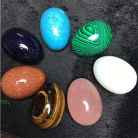 Wholesale Chakra Balls - HIMABM 1 Pcs Large Various Undrilled Jade Egg for Kegel Exercise Chakra Massage Pelvic Floor Muscles Vaginal Yoni Ben Wa Ball