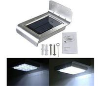Wholesale 16led Solar Lights - 16led LED solar light Outdoor Wireless Solar Powered PIR Motion Sensor Light Wall light Led sensor lamp 2nd Generation