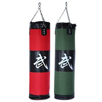 Wholesale Punching Punch - Wholesale-High Quality 100cm Boxing Sandbags Striking Drop Hollow Sand Bag with Chain Martial Art Training Punch Target