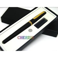 Wholesale Beautiful Fountains - The Best Gift Duke 209 Beautiful and Good Quality golden and black M nib Ink Steel Brand Fountain pen Box Set free shipping