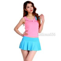 Wholesale Conservative Skirts - 16 The new girl students split skirt style swimsuit female swimsuit cover the belly of the conservative spa swimsuit flouncing
