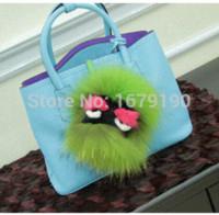 Wholesale Owl Hanger - Little monster pendant of bags Plush owl Keychain Plush car jewelry pendant imitation of Mink furs Fashion monster