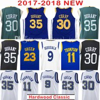 Wholesale Kevin Thompson - 2017-18 New 30 Stephen Curry 35 Kevin Durant Jersey Men's 2018 9 Andre lguodala 11 Klay Thompson 23 Klay Thompson Jerseys 100% Stitched