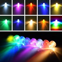 ingrosso luce cinese impermeabile-Mini luci subacquee impermeabili del LED per la lanterna di carta rotonda cinese della festa nuziale della festa nuziale dei palloni delle luci RGB LED