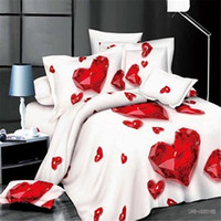 Wholesale Wholesale King Bedding Sets - Hot selling high quality home textiles drop shipping 3D active printed 4pcs lot bedding set with multi-colors for choice