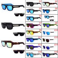 lentes espião venda por atacado-Marca Designer Spied Tice Óculos Moda Esportes óculos de Sol Multicor Revestimento Lente Dos Homens Oculos De Sol Óculos de Sol 15 Cores
