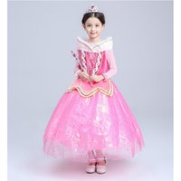 Wholesale Cotton Corduroy Girl Dress - Baby & Kids Clothing Cosplay & Costumes Halloween Day Christmas Classic Fairy Tales Princess Aurora Dresses Stage Performance Dress