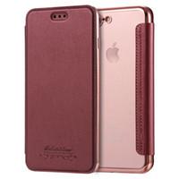 Wholesale Flip Phone Slim - For iphone7 6S 6plus Slim Premium Flip Case Cover Leather Wallet phone TPU For iphone 7 Galaxy Note 7 7plus
