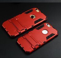 Wholesale Oem Phone Accessories - OEM mobile phone accessory Iron Man armor case with stand for iPhone 6 6s cell phone cover case
