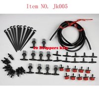 Wholesale Misting Systems - Watering Hose 10m Grey Mist Sprinkler 10pcs And 10Pcs Connector garden watering 10 containers drip irrigation system