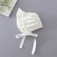 Wholesale Baby Summer Hats Strap - Baby Sun Princess Hats strap windproof cap Newborn Girl Pearl Rose Flower Caps 0-12M