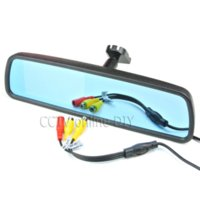 4,3 pollici TFT LCD Car Rear View Mirror Monitor con speciale staffa 2CH Ingresso video + Pulsante Menu