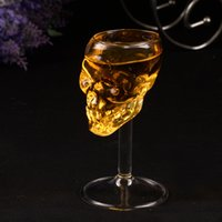 Wholesale Wine Glass Supplies - 75ml Skull glass glass stein beer glass Head Whiskey Shot Drinking Popular Design New Fashion Party Supplies