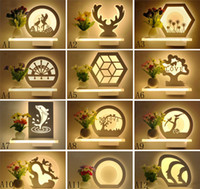 Wholesale Bedside Flower Lamp - Modern simple led and fresh flower vase wall lamp decoration corridor romantic bedroom bedside lamp balcony corridor wall lamps and lanterns