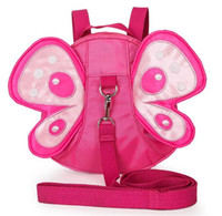 Wholesale Model Girl Backpack Bags - New 2016 children baby girl fashion backpack 2 colour rose red ,red colour cartoon butterfly modelling children kids bag