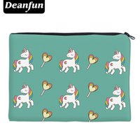 Deanfun 3D Printing Makeup Storage Travell Necessary Green Cute Unicorn Simple Cosmetic Bags 85010
