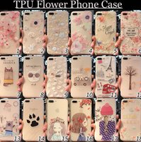 Wholesale Iphone Cases For Girls 3d - 3D Stereoscopic Flower girl Case For iphone x iphone 7 Plus iphone 6S Plus New Ultra-thin TPU Protector Cellphones Case