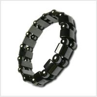 Wholesale Hematite Magnetic Wrap Bracelet - Hand Strings Nature Hematite Black Pearl Bracelet Brazil Hematite Metal Magnetic Therapy Wrist Wrap Wrist Strip for Sports Good for Health