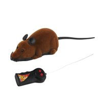 Wholesale Hot Toys Simulation - 2017 Hot Sale Scary Remote Control Simulation Plush Mouse Mice Kids Toys Gift for Cat Dog 3 Colors