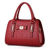 Wholesale Beautiful Lady Fashion Dress - Beautiful lady Single shoulder bag casual handbag fashion PU girl messenger bags Women new trend vintage Bag gift