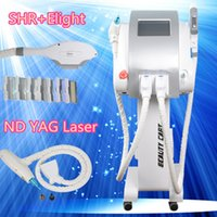 Wholesale Side Tattoos - opt shr No Side Effects For Pernament Hair Removal skin rejuvenation nd yag laser tattoo removal Multifunction Beauty Machine