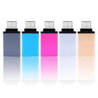 móviles meizu al por mayor-Tipo de metal C Adaptador OTG Macho a USB 3.0 Adaptador Convertidor Hembra Para leTV Mobile meizu pro 5 xiaomi 4c uno