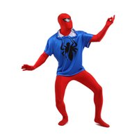 Wholesale Sexy Spiderman Lycra Costume Xl - Two Pieces Red And White Spiderman Sexy Costume Lycra Spandex Super Hero Zentai Suit For 2017 Halloween Events