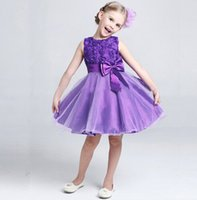 Wholesale Beautiful Rose Child Flowers - Girls party dress 2016 new children lace Rose Girl Dress butterf 2016 new style weeding dress with flower girls beautiful evening dress