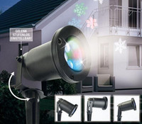 snowflake projector lights 2018 - 1Set Free Ship Waterproof Moving Snow Laser Projector Lamps Snowflake LED Stage Light For Christmas Party Landscape Light Garden Lamp Outdoo