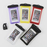 saydam cep telefonları samsung toptan satış-Şamandıra Hava Yastığı Tasarım IPX8 Su Geçirmez Kuru Kılıfı Kılıf Için Şeffaf Evrensel Su Geçirmez Cep Telefonu Kapak Çanta iPhone X 8 8 ...