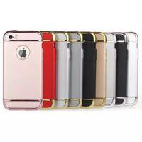 ingrosso caso metallico apple iphone-3 in 1 placca ibrida Custodia in plastica placcatura placcatura in oro placcato in plastica rigida per iphone 7 7 PLUS 6 6S PLUS 5SE