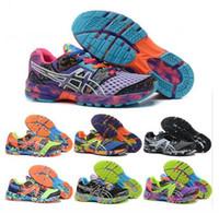 zapatillas de gel noosa al por mayor-2016 Gel Gel-Noosa 9 8 mujeres corriendo zapatos de alta calidad de entrenamiento barato Nueva venta caliente caminando zapatos de deporte 36-40 EUR