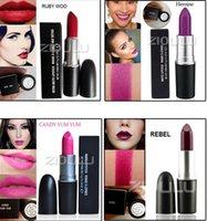 Wholesale Ruby Long - Good quality 18 color Luster Lipstick RUBY WOO CHILI VELVET TEDDY HONEYLOVE KINDA Frost Retro Matte Lipstick 3g