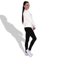 Wholesale Woman Sex Leggins - Sex Gym Sport Solid Color Leggings for women Slim Fit leggins Fashion trousers pants LDDK20 WR