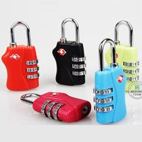 Wholesale Tsa Lock Wholesale - Customs Luggage Padlock TSA338 Resettable 3 Digit Combination Padlock Suitcase Travel Lock TSA locks safty YYA371