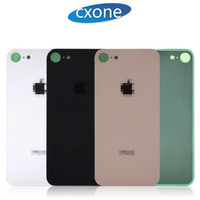 Wholesale iphone housing covers - High Quality Housing Tempered Glass Case For iPhone 8 8G plus Back Cover Tempered Glass Without Frame Replacement
