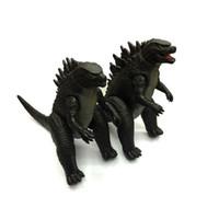 conjuntos de brinquedos godzilla venda por atacado-Godzilla Colecção Figura de Ação Coletar Brinquedo 23 * 18 cm PVC Monstros Dinossauro 2 Pçs / set Filme Brinquedos Frete Grátis