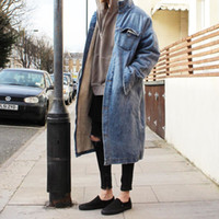 Wholesale Old Couple - 16SS FOG Cowboy Long Coat Fear Of God Outerwear Washed Do Old Cotton Jackets Fashion Couple HFNZDY001