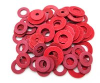 Wholesale Flat Washer Standards - Insulation washer   gasket red steel Pakistan fast red M2 M2.5 meson M3 (1000 teeth) free shipping!