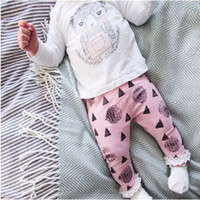 Wholesale Cute Bear Long Shirt - Newborn Girls Outfits Toddler Bear Cotton Long Shirts Pants Fashion Clothes For Girls Autumn Baby Clothing Sets