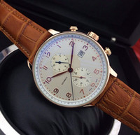 Wholesale leather men watches - Brown Leather Top luxury brand Fashion Mechanical Mens Stainless Steel Gold Automatic Movement Watch men Self-wind Watches Wristwatch