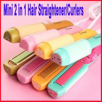 Mini 2 em 1 Flat Hair Straightener Efficient Elétrico Hair Straightener Ceramic Hair Straightener Splint Ion Perm Portable Straightenin
