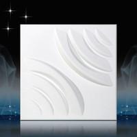 neue tapete europa großhandel-Heißer Verkauf 3D PVC Wand für Schlafzimmer Wasserdicht Europa Kunst Wandaufkleber für Hintergrund 3d New Geprägte Solide Tapete 30 * 30 cm Wohnkultur