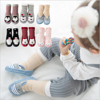 Bebê Meias Recém-nascido Inverno Floor Meias Criança Algodão Anti Slip Glue Calçado Kids Fashion Slipper Meias Non-slip Rubber Soles Booties B2914