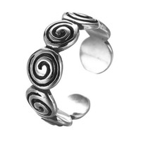Wholesale Gothic Jewelry Wedding Rings - 5pcs lot 925 Sterling Silver Fingerprint Vintage Ring Gothic Swirl Ring Adjustable Open Twisted Spiral Ring Jewelry Wedding Band