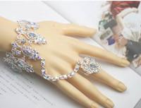 braut armbänder großhandel-2016 neue Heiße Braut Armband Weibliche Weiße Hochzeit Mode Hand Kette Armband Brautschmuck Braut Zubehör