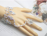 Wholesale Female Body Jewelry - 2016 New Hot Bride Bracelet Female White Wedding Fashion Hand Chain Armband Bridal Jewelry Bridal Accessories