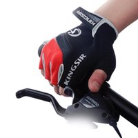 Wholesale Fitness Finger - 1 Pair Outdoor Sport Gloves Summer Cycling Bike Bicycle Riding Gym Fitness Half Finger Gloves Shockproof Mittens